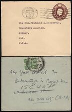 G.B. (2) DIFF. COVERS ADDRESSED TO GOV. ROOSEVELT (EX-FDR COLLECTION) BR8459