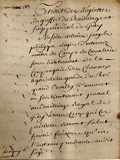 1785 Gray procédure judiciaire par D'ESTERNOZ maître de Camp pour VANABRE BRULEY