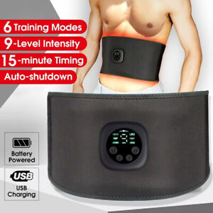 EMS Abdominal Muscle Toning Trainer ABS Electric Stimulator Toner Fitness Belt /