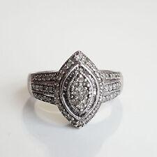 Beautiful Vintage Sterling Silver ring w/66 genuine diamonds-JTW/925  size 6.5