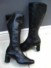 Ladies DOLCIS black leather CLASSIC knee high BOOTS size UK 8 42 matterhorn