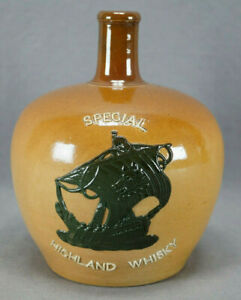Doulton Lambeth Special Highland Whisky Stoneware Jug Circa 1891-1902