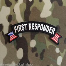First Responder Small American Flag Rocker Patch