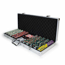 NEW 500 Monaco Club 13.5 Gram Poker Chips Set with Aluminum Case - Pick Chips