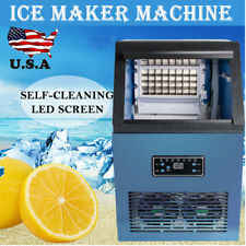 Auto Commercial Ice Maker Cube Machine 50KG Stainless Steel Bar 230W CE US SALE