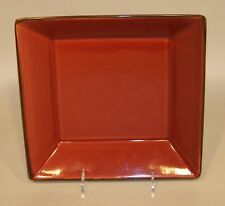 Pottery Barn Japan Asian Square Paprika Red 9 Inch Vegetable Serving Bowl