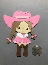 1 Cowgirl #2 Premade PAPER Die Cuts / Scrapbook & Card Making