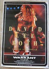 David Lee Roth 1991 Denmark Enough Tour 24.5x35.5 Concert Poster 100% Real Rare