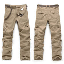 UK Mens Army Trousers Pants Combat Military Cargo Waist Work Casual Summer Camo