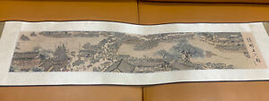 Chinese Fine Silk wall hanging/scroll With Original box and bag