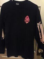 womens Long Sleeve Shirt L Black/Pink Biketoberfest Vtg 2009