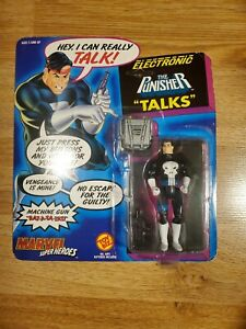 The Punisher Talking electronic pack Action Figure sealed NIB 1991 toybiz Talks!