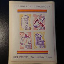 ESPAGNE VIGNETTE CIVIL WAR BELCHITE SETIEMBRE 1937 NEUF ** LUXE MNH