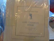 Pottery Barn Kids Luxe Chamois ivory sham standard New