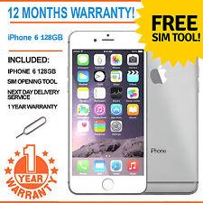 Apple Iphone 6 128 Gb Desbloqueado De Fábrica-White/silver