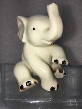 Lenox Porcelain Classic Mini 2.5� Elephant Figurine Raised Trunk Excellent