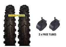 Pair of 16 inch Black bicycle tyres and tubes 16 x 2.125