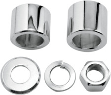 Colony Chrome Motorcycle Front Axle Spacer Nut Kit 00-06 Harley Softail Dyna