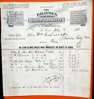 07-18-1900 P H HAYDEN SADDLERY HARDWARE SAINT LOUIS MISSOURI Bill Head