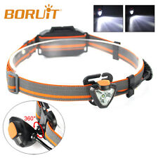 360° 500lm XPE LED Linterna Frontal Luz Cabeza Cargador manos libres antorcha de
