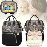 LEQUEEN Baby Diaper Bag Mummy Maternity Nappy Travel Handbag Backpack Large