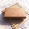 100 Kraft Boxes Product Packaging Boxes Wedding Party Favour Gift 13x6.8x1.8cm