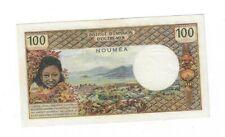 Rare Xf New Caledonia Noumea 100 Francs 1971 Sig. #1 S/N 00889121