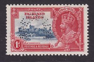 Falkland Islands. 1935. SG 139s, 1d deep blue & scarlet, specimen. Mounted mint.