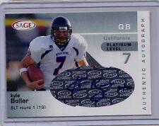 Kyle Boll 2003 Sage Platinum Autograph Rookie Card Auto Ravens Cal RC SP /40