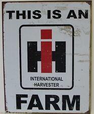 THIS IS IH FARM LOGO METAL SIGN international harvester tractor farmall   1279