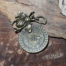 Uhrenanhänger mit Biene, Steampunk Schmuck Zahnräder Zahnrad