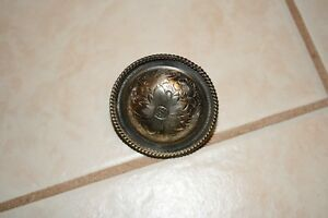 Round German Silver Concho Saddle Screw Floral Western Rope Edge