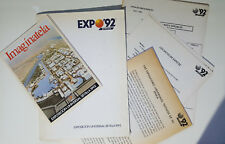 EXPO'92 SEVILLA - RARE FOLDER WITH 36 PAGES ADVANCE PRESS DOSSIER + MAP (1988)