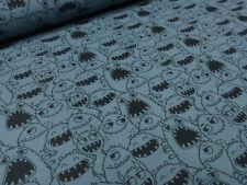 Stoff Baumwolle Jersey Monster blau schwarz Kinderstoff Julie Kids Fashion