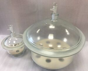 Vacuum Desiccator, Clear Glass, 150, 180, 210, 240, 300, & 350mm Inside Diameter