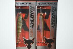 """2 lures jackall riser bait 007r  2.75"""" popper swisher bluegill & mirror wakasagi"""