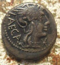 M. Porcius Laeca. Silver Denarius 18 mm, 3.74 g), Rome, 125 BC. Libertas