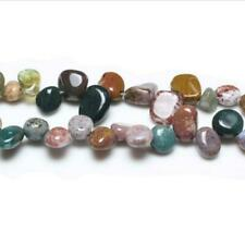 Ocean Jasper Drop-Style Chip Beads 10-14mm Mixed 42+ Pcs Handcut DIY Jewellery
