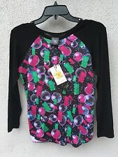 $48 NWT Zara Terez Long Sleeve Gummy Bear Candy Crush Baseball Shirt Girls M