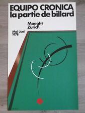 EQUIPO CRONICA LA PARTIE DE BILLARD Affiche originale cartel LITHO Pop Art Pool