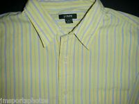 J CREW Men's Long Sleeve Shirt Men's Size XL Yellow Striped