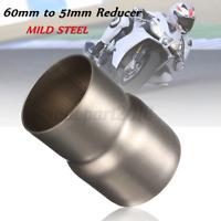 Tubo connettore marmitta riduttore adattatore di scarico moto da 60mm a 51mm /