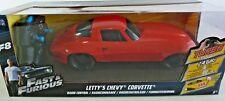 Radio Control Fast & Furious Letty's Corvette  Plastic 1:18 Jada 9 inch RED