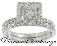 2.30 Ct Women's Princess Cut Diamond Engagement Ring In 18 Kt White Gold