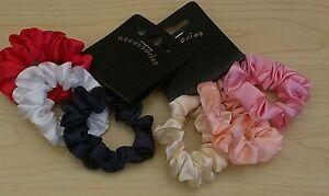 BNWT  3 pc Sets - Mini Scrunchies-Soft Satin Elasticated Scruncies - Accessories