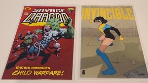 INVINCIBLE 1ST AND FINAL APPEARANCE SAVAGE DRAGON #102 INVINCIBLE #144 IMAGE