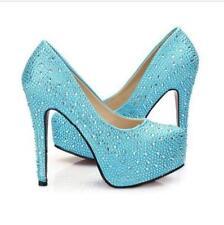 SP73 Chic Rhinesto Crystal Sparkly Bridal High Heel Stiletto Wedding Prom Shoes