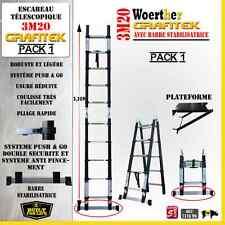 ESCABEAU 3 FONCTIONS WOERTHER - GRAFITEK 3M20/1M60 - PACK 1 ( + PLATEFORME)