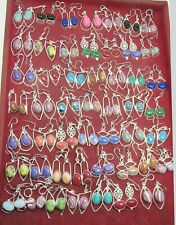 Coral & Multi Mixed 20 pair Wholesale Lots 925 Sterling Silver Plated Earrings