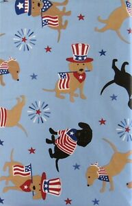 Patriotic Pooches - Dogs, Flags and Fireworks Various Colors/Sizes